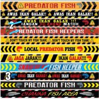 Stiker List Aquarium Predator 60Cm
