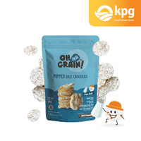 Oh Ma Grain! - Popped Rice Crackers Sea Salt - Snack Sehat - 35gr
