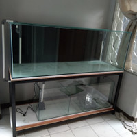aquarium kaca custom 150x60x60 + kaca 10mm
