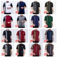 Kemeja Batik Pria Lengan Pendek Baju Atasan Seragam Kerja Kantor Batik