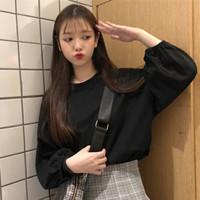 Baju Kaos Korea Musim Semi Kaos Lengan Panjang Wanita Model 2021