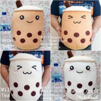 Boneka Boba Bubble Brown Sugar Milk Tea Ukuran Besar
