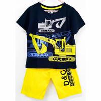 Setelan kaos baju anak laki laki size 1 2 3 4 5 6 7 8 9 10 tahun crane