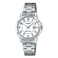 Jam Tangan Wanita Casio Analog White Dial Stainless Steel LTP-V004D-7B