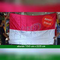 bendera merah putih bahan satin ukuran 150 cm x 225 cm