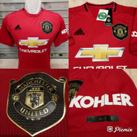 Jersey Kaos Baju Bola MU Mancester United Home Big Size XXL 2019 2020