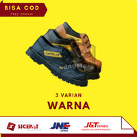 Sepatu Safety Boots Pria Caterpillar Pendek Ujung Besi Terlaris Murah