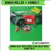PAKET HEMAT RUMAH ROLLER SET + VANBELT (BEAT/STREET/ESP/NEW/VARI0 110)