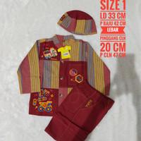 baju Koko anak KeKe size 1 merah bata