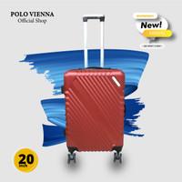 Koper Kabin Koper 20 Inch Murah Polo Maldives Model 805 ABS Fiber - Merah