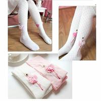 milanberry BALLERINA STOCKING PINK / WHITE ANAK tari balet kaos kaki