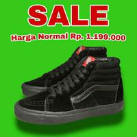 Sepatu Vans Sk8-Hi Full Black Black Original - Hitam, 36