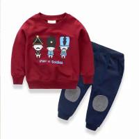 Baju piyama bayi laki 1-7 tahun keren Setelan kids lucu kaos panjang