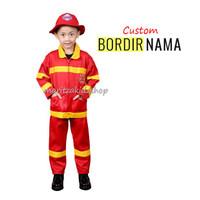 Baju / Stelan / Setelan / Kostum Profesi Pemadam Kebakaran Anak