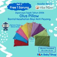 Olus Pillow (Bantal Kesehatan Bayi. Anti Kepala Peyang) - Merah