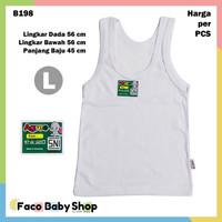 B198 Singlet Bayi Size L Putih Unisex Kaos Dalam Large Agree Baby SNI