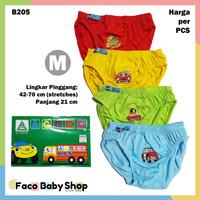 B205 Celana Dalam Anak M Warna Laki Sablon Car CD Cowok Agree Kids SNI