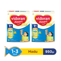 VIDORAN XMART 1+ NUTRIPLEX SUSU FORMULA MADU [950 G/2 pcs]