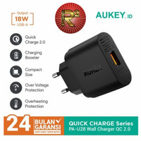 Charger Aukey PA U28 Quick Charge Adaptor Qualcomm 3.0 Original