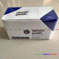 Apron White / Apron Plastik / Celemek Medis 100'