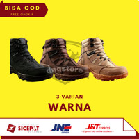 Crocodile Sepatu Safety Boots Pria Armour Delta Ujung Besi Tracking
