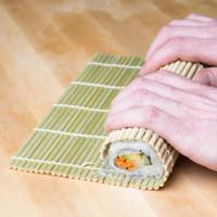 Bamboo Sushi Mat Alat Pembuat Penggulung Kimbap Cetakan Tikar Bambu