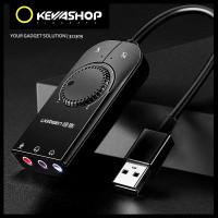 Ugreen External USB Soundcard Audio interface for Laptop PC desktop - Hitam