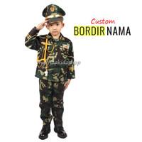 Baju / Stelan / Setelan / Kostum Profesi TNI Tentara AD Anak