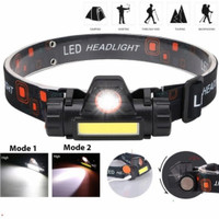 Lampu Senter Kepala LED Charger - Headlamp Camping Headlight Sepeda