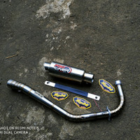 Knalpot Pro Liner Jupiter z - Vega r Road Race - Underbone