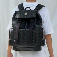 MCM Brandenburg In Visetos Black Backpack ORIGINAL FO ORI AUTHENTIC