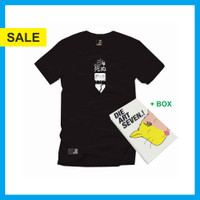 Kaos Distro Dieartseven Hight Stand Black - S