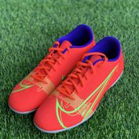 Sepatu bola nike original Vapor 14 FG Club FG orange biru 2021