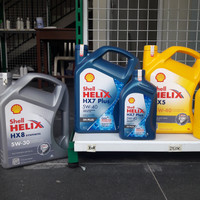 Oli Mobil Shell Helix HX5 - HX 8 Galon original dari Shell