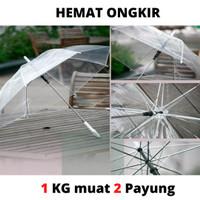 Payung Transparan lipat murah - Payung bening besar