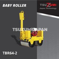 Mesin baby roller double drum. Mesin pemadat aspal. Honda Tsuzumi