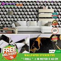 Wallpaper Dinding - Wallpaper Sticker 10m x 45cm Murah