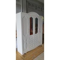 Lemari Pakaian Besi 4 Pintu | Avery AVP013- Snow white
