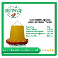 Tempat Pakan Ayam Super Feeder 4 kg Protektor