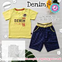 Denim by Ssyabiya - Setelan Baju Anak Remaja Laki / Set Kaos Celana