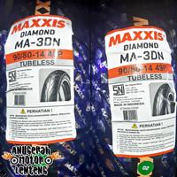 Ban Tubeless belakang/depan Beat Vario 125 150 Maxxis Diamond 90/80-14