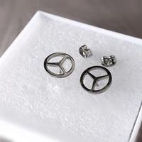 Robagin Ant85 anting perdamaian peace pria wanita korea silver keren