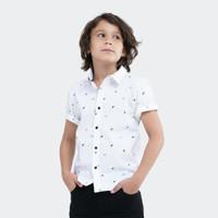 Kemeja Lengan Pendek Full Print Celcius Kids A07206K Putih