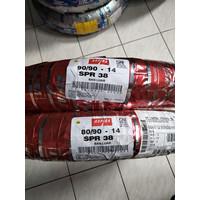 PAKET BAN ASPIRA SPR 38 80/90-14 & 90/90-14 TUBETYPE BAN STANDAR MATIC