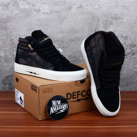 Sepatu Vans SK8 Hi X Defcon Notchback Multicam Black Hitam Camo White