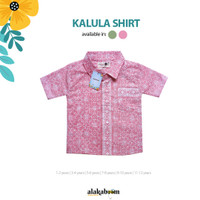 Kalula Shirt Pink ALAKABOOM - Kemeja Batik Anak 1-12 tahun