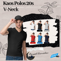 Parsel Ramadan Kaos Polos Vneck Super Cotton 20s Unisex