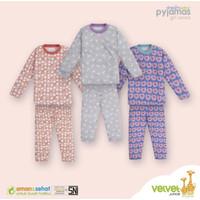 Piyama Velvet Junior MOTIF DEER - Setelan Baju Tidur Anak size 4-10