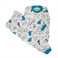 Piyama Velvet Junior MOTIF DINO - Setelan Baju Tidur Anak size 4-10