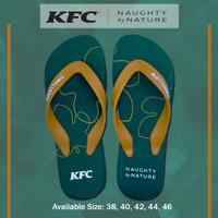 SANDAL SWALLOW x KFC Naughty by Nature TYPE GREEN LEAF - WARNA GREEN